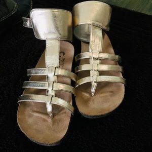 Sam Edelman Circus Gold cuff gladiator cage sandal
